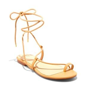 A New Day- Josie Faux Leather Gladiator Sandals - Tan 8.5